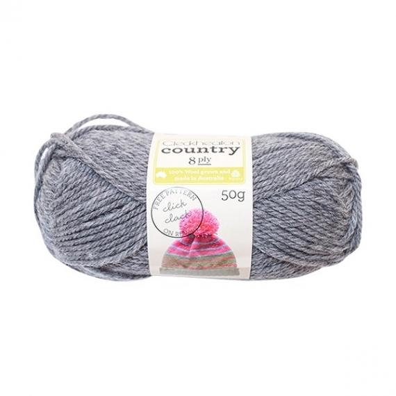 Cleckheaton Country 8 Ply - Grey Blend 0216