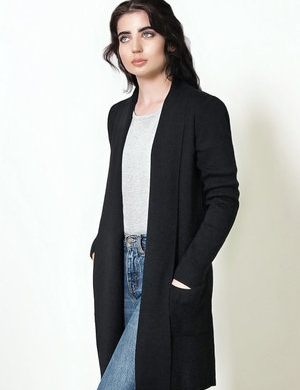 Fratelli Merino Wool Black Cardigan