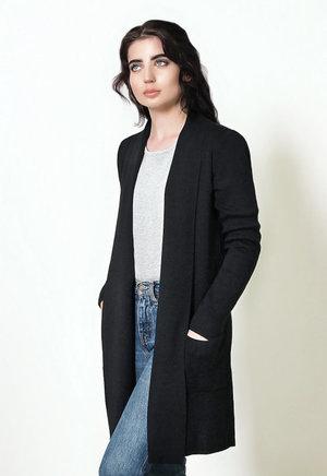 Fratelli Merino Wool Black Cardigan