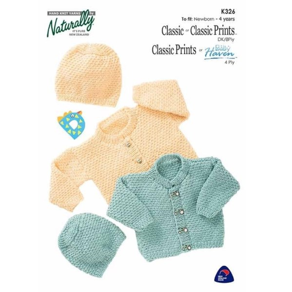 36b12e586b4 Naturally Baby 4 Ply or 8 Ply Jumper Pattern