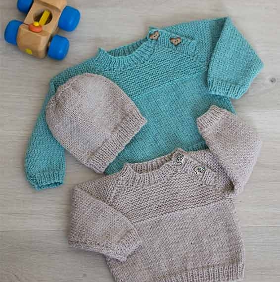 Naturally Baby & Kids Jumper 8 Ply Pattern