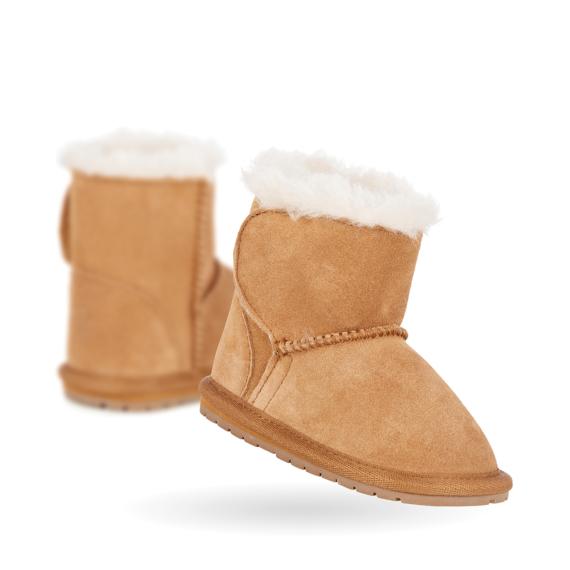Emu Sheepskin Baby Boots Toddle - Chestnut