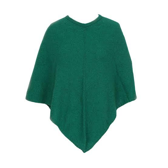Lothlorian Possum Merino Poncho - Emerald