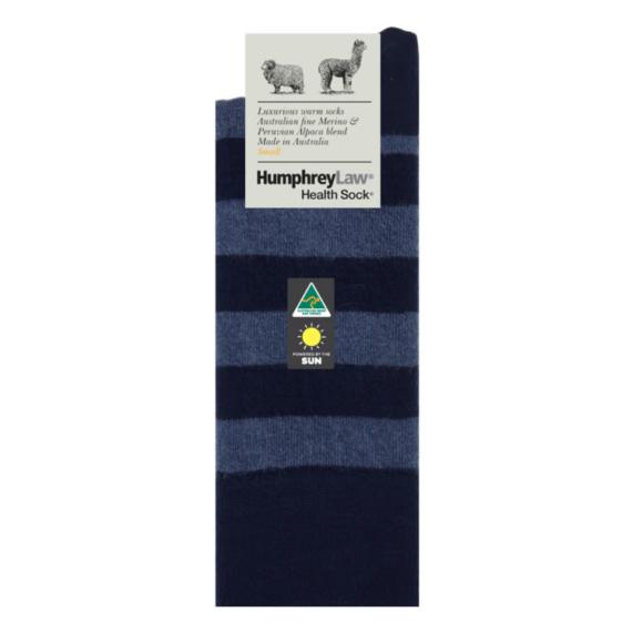 Humphrey Law Merino & Baby Alpaca Sock - Navy, Men's 7-10 / Ladies 8-11