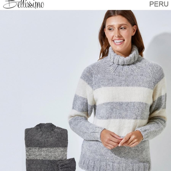 Bellissimo Peru 12 Ply High Neck Jumper Pattern
