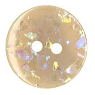 Peach Sparkle 18mm Button
