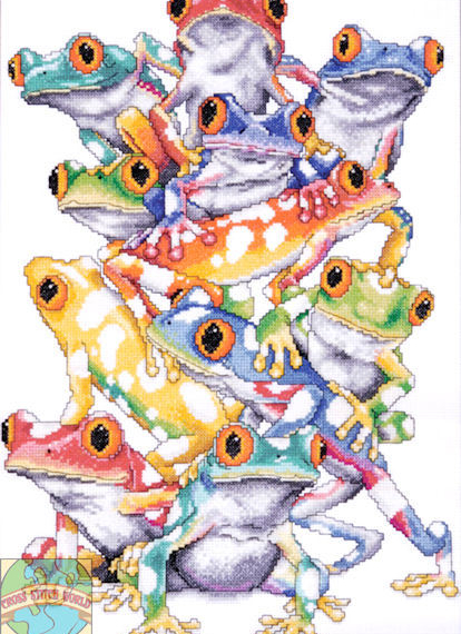Design Works Counted Cross Stitch Kit - Frog Pile