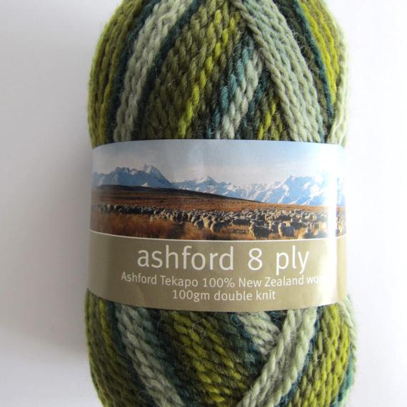 Ashford Tekapo 8 Ply 100g - Evergreen 232