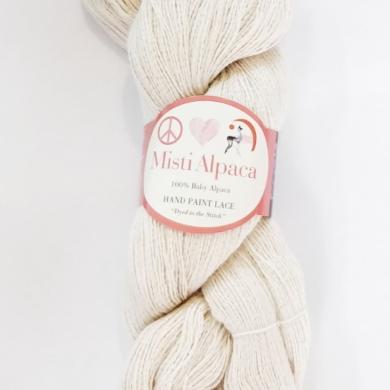 Misti Alpaca Hand Paint Lace Cream #100