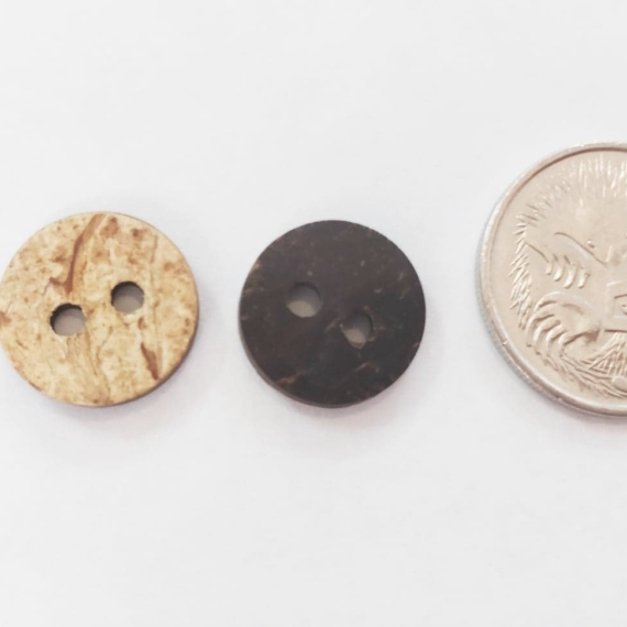 Coconut Wood Button 12mm