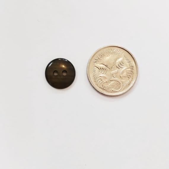 Dark Olive Pearl Button 11mm