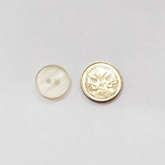Clear Lemon 15mm Button