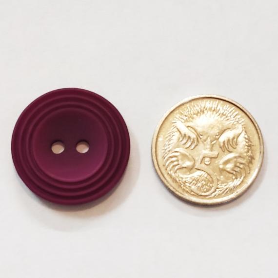 Purple Button 20mm Grape