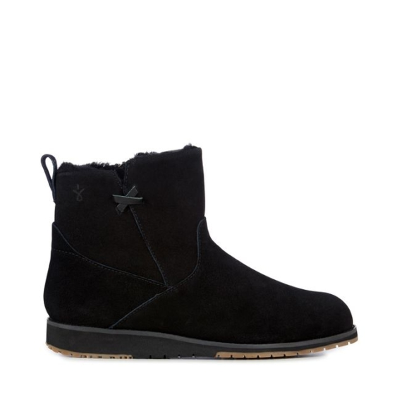 Emu Beach Mini Sheepskin Boots - Black