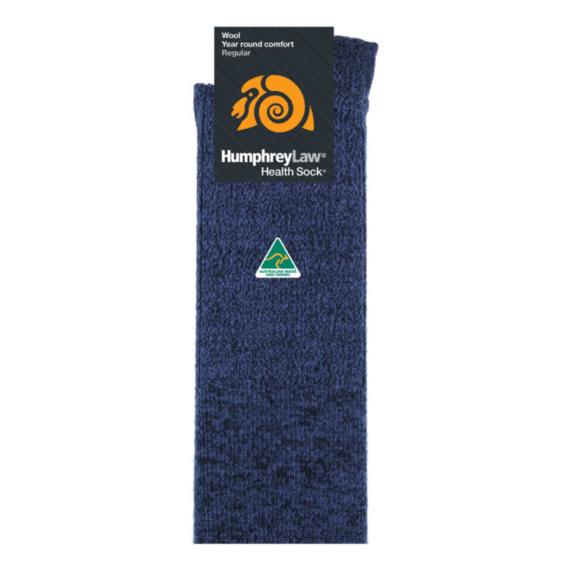 Humphrey Law Merino Wool Health Sock - Men's 7-10 / Ladies 8-11, Denim