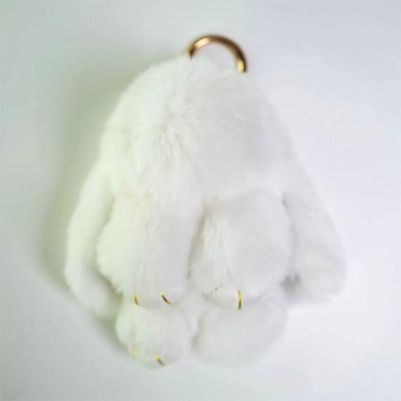 Rex Fur Rabbit Keyring