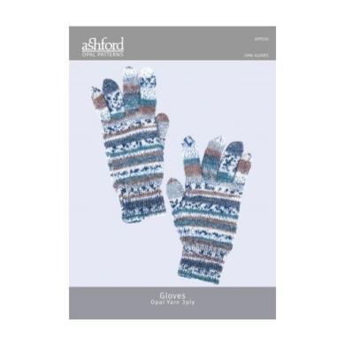 Ashford Opal Gloves 3 Ply Pattern