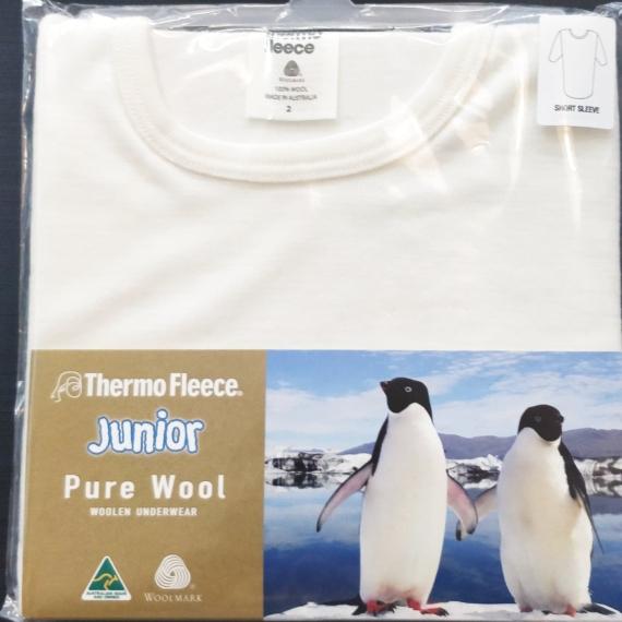 Children's Merino Wool Short Sleeve Thermal