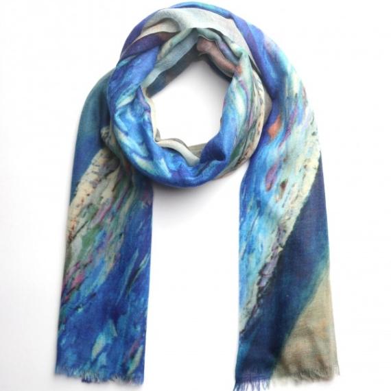 Merino & Silk Scarf - Ocean