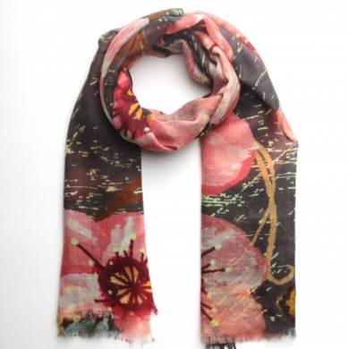 Merino & Silk Scarf - Secret Garden