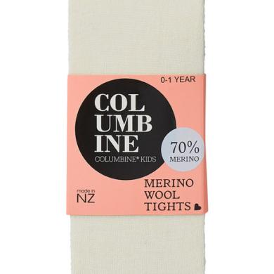 Columbine Baby Merino Wool Tights Cream