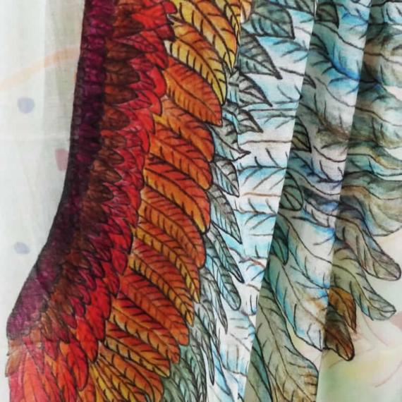 Merino & Silk Scarf - Wingspan