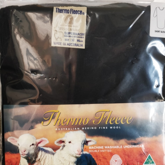 Merino Wool Thermal Short Sleeve Round Neck Top