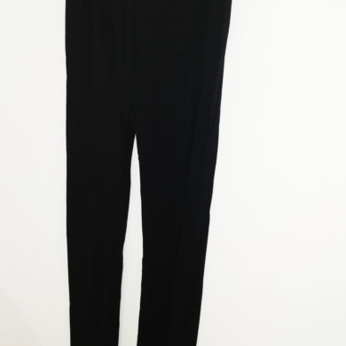 Merino Wool Straight Leg Leggings Black