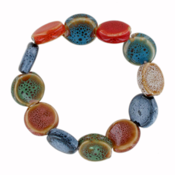 Ceramic Bead Ball Bracelet - Disc