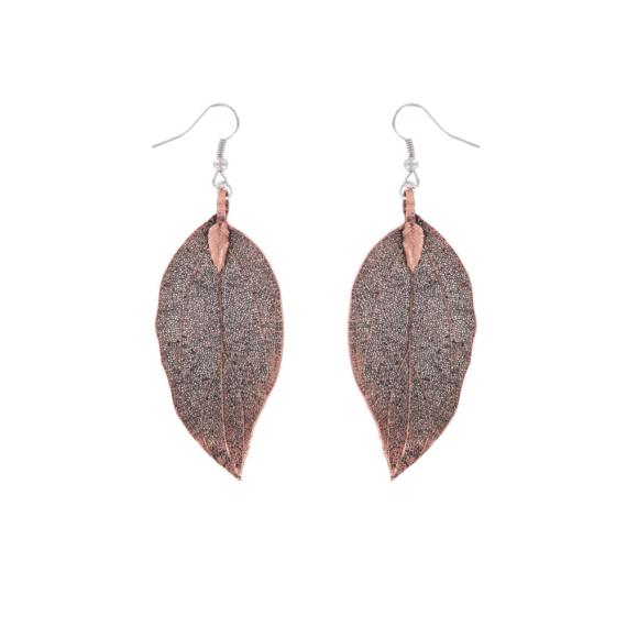 Gum Leaf Earrings - Copper