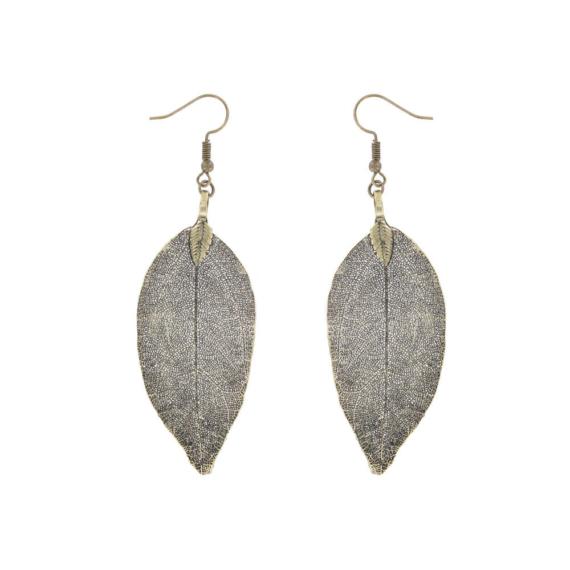 Gum Leaf Earrings - Gold