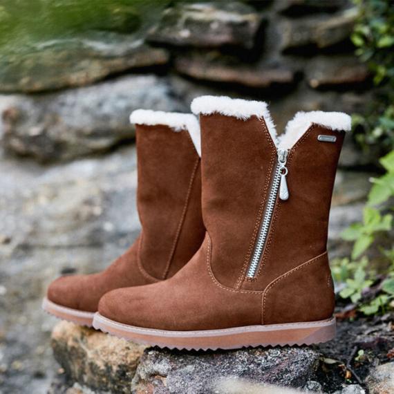 Emu Gravelly Waterproof Sheepskin Boots Oak