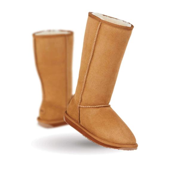 Emu Stinger Hi Sheepskin Boots Chestnut