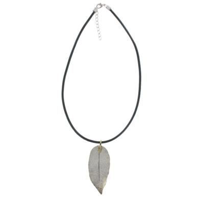 Gum Leaf Necklace - Gold