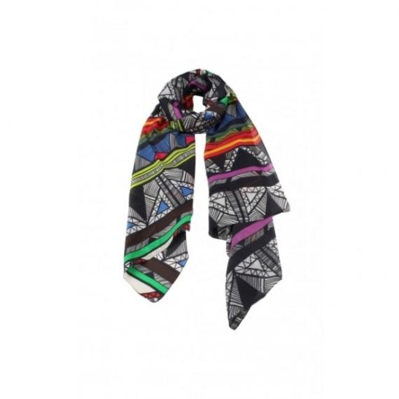 Cotton & Silk Scarf - Multi Print