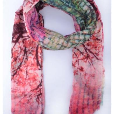 Merino & Silk Scarf - Blossoming