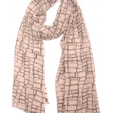 Merino & Silk Scarf - Squares