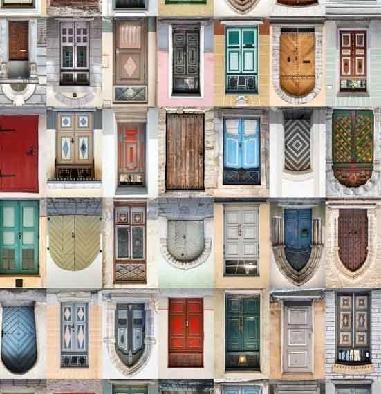 Merino & Silk Scarf - Doors