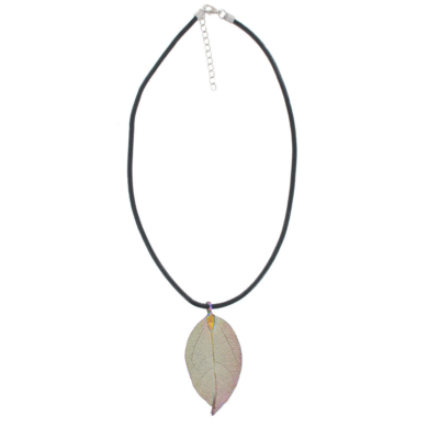 Gum Leaf Necklace - Rainbow Gold