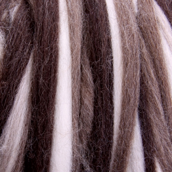 Corridale Stripey Roving 100gm - Natural Fusion