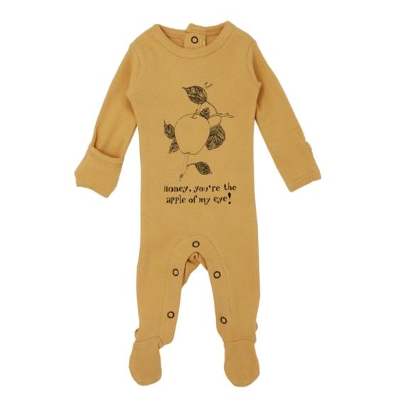 L'oved Baby Li'l Punkins Magenta Radish Footed Bodysuit