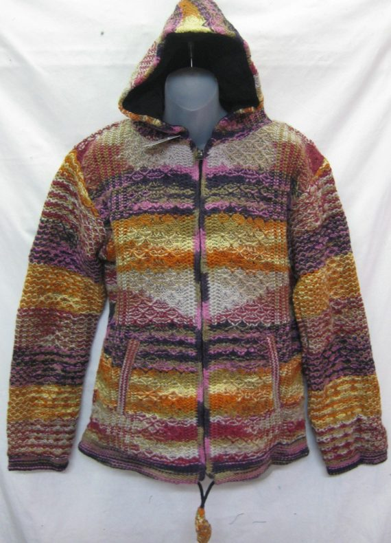 Knitted Wool Jacket With Lining