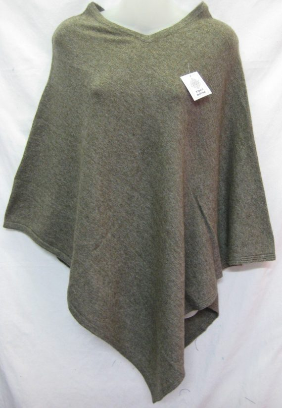 Cashmere Poncho Light Brown