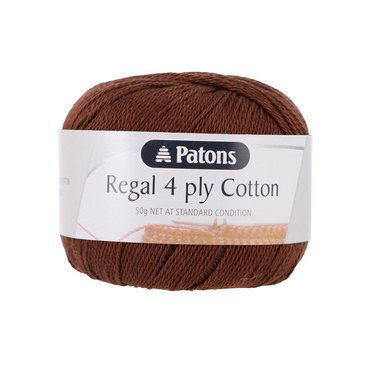 Patons Regal Cotton 4 Ply Chocolate #7346