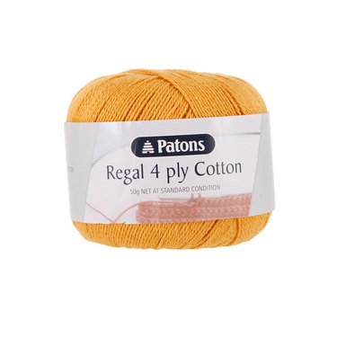 Patons Regal Cotton 4 Ply Tangerine #4442
