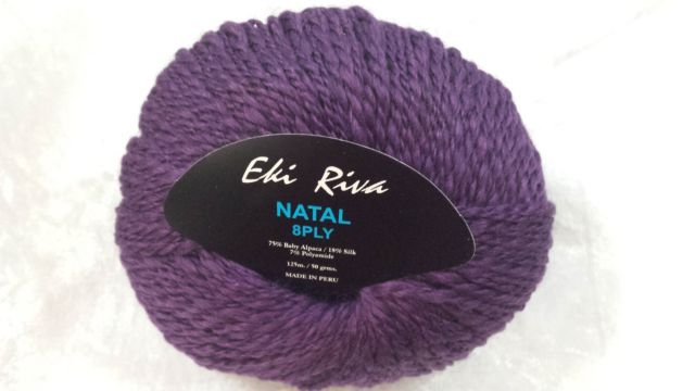 Eki Riva Natal Baby Alpaca 8 Ply Purple