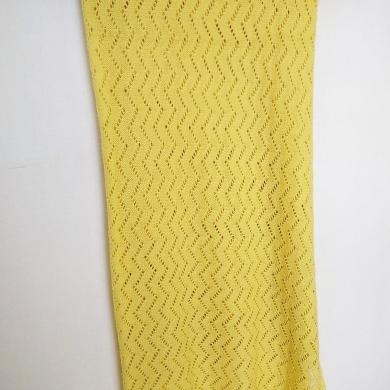 Patterned Merino Wool Baby Wrap Lemon