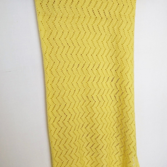 Patterned Merino Wool Baby Wrap Lemon