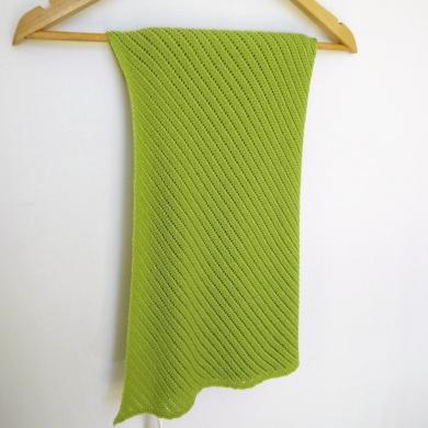 Patterned Merino Wool Baby Wrap Lime