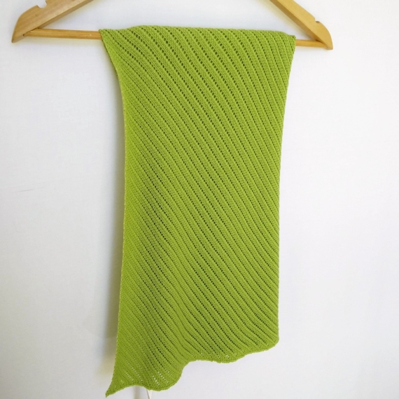 Patterned Merino Wool Baby Wrap Lime